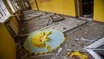 Una scuola gravemente danneggiata in Nagorno-Karabakh - foto di Armine Avetysian