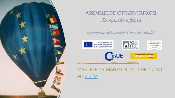 """Locandina dell'evento """"L'Europa attore globale"""