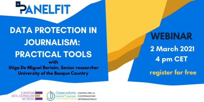 Locandina Data protection in journalism: practical tools