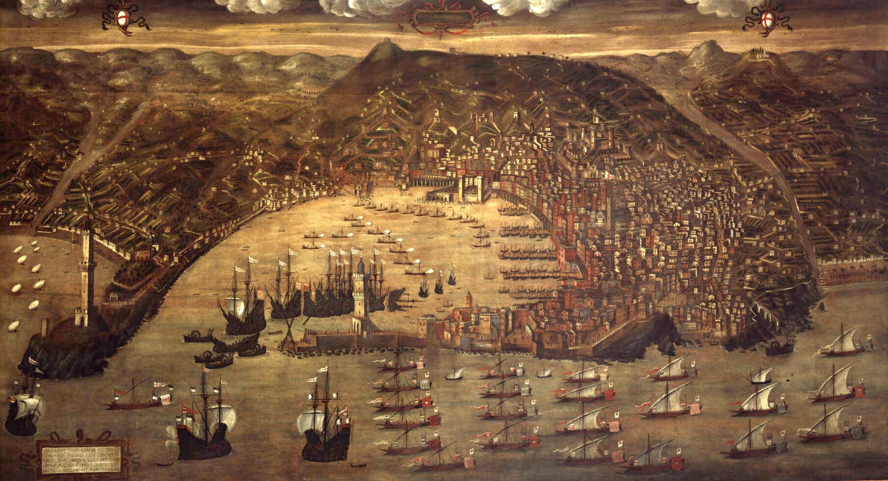 Veduta di Genova nel 1481 di Cristoforo Grassi