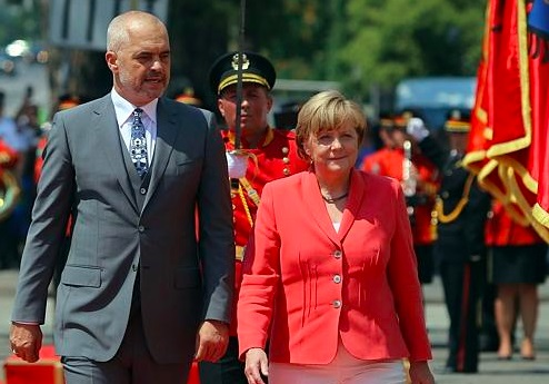 Edi Rama e Angela Merkel