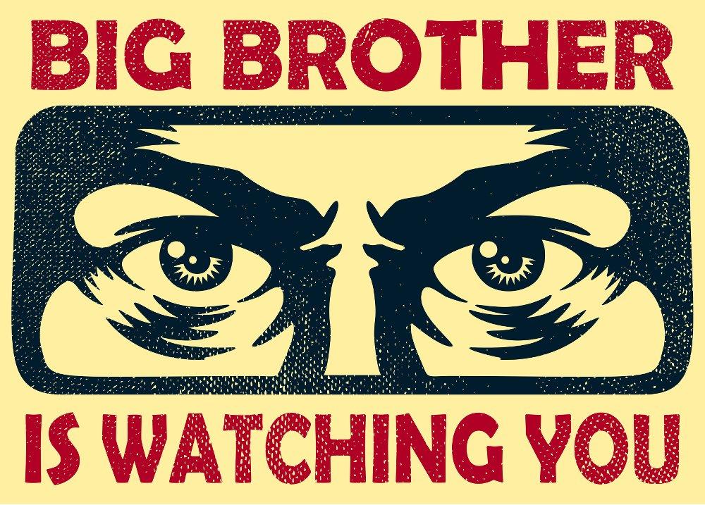 """Un manifesto vintage con la scritta """"Big Brother is Watching You"""""""