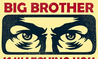 "Vintage poster reading ""Big Brother is Watching You"""