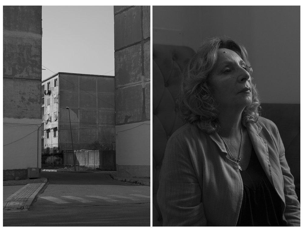 """I """"prefabbricati"""" cinesi: edifici costruiti fra gli anni 60 e 70 durante la fase di alleanza con la cina Maoista. Composti da moduli e prodotti in serie in tempi molto rapidi grazie all' uso di elementi prefabbricati in calcestruzzo armato, sono disseminati in tutta l'Albania (urbana e rurale). Concepiti per ospitare singole famiglie, sono ancora oggi abitati - foto di Camilla de Maffei"""