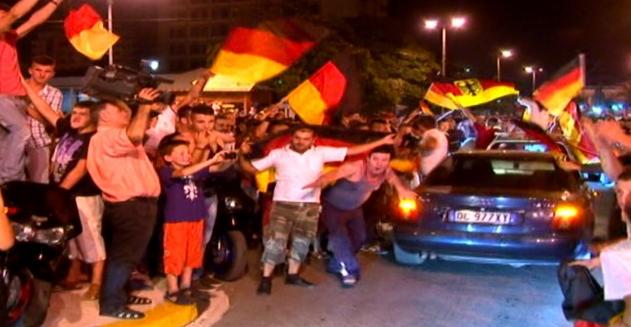 Tirana festeggia la vittoria della Germania ai Mondiali 2014