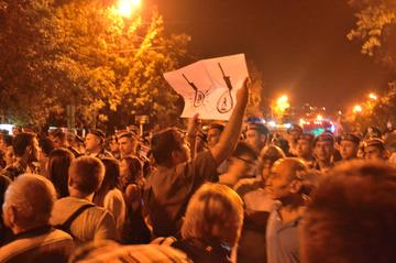 The recent Electric Yerevan demonstration (Photo Simone Zoppellaro)