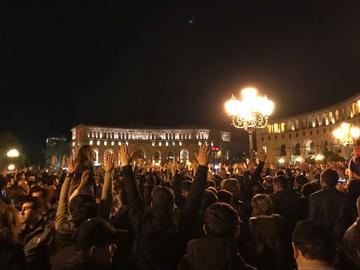 I festeggiamenti di ieri sera a Yerevan - Mariam Zakarian