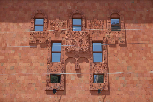 Yerevan, un edificio (Foto 517 design, Flickr)