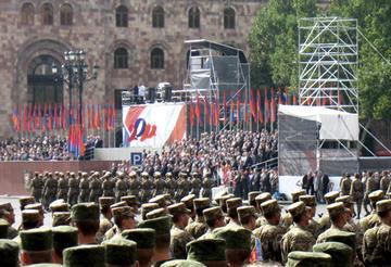 Il palco delle celebrazioni ufficiali (Foto Ilenia Santin)