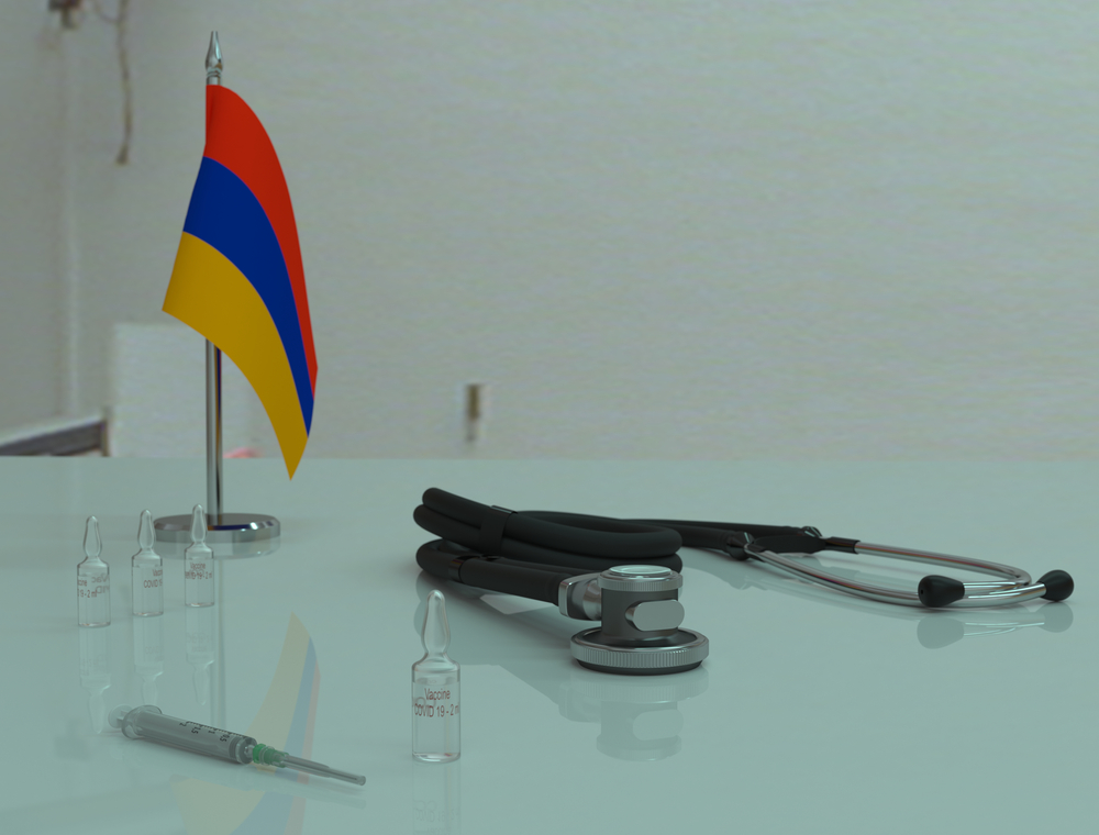 Vials on a desk