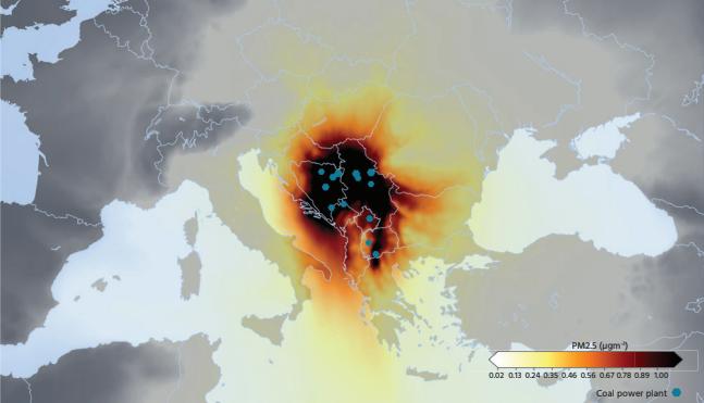 """Una delle infografiche realizzate per il rapporto """"Chronic coal pollution"""""""