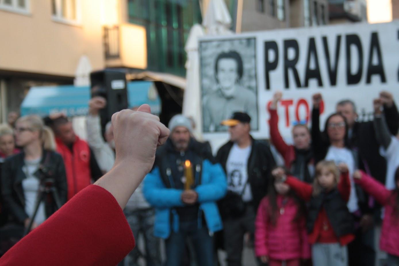 Banja Luka, durante una manifestazione del movimento Pravda za Davida (foto A. Sasso)