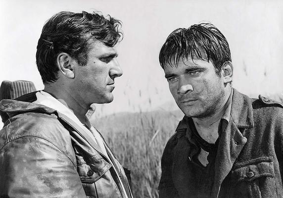 Bata Živojinović i Boris Dvornik u filmu Most