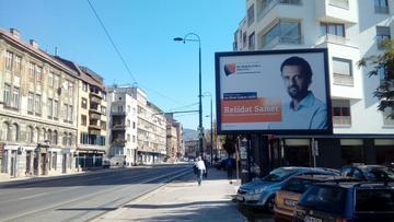 Manifesto elettorale a Sarajevo (foto A. Šušnjar)