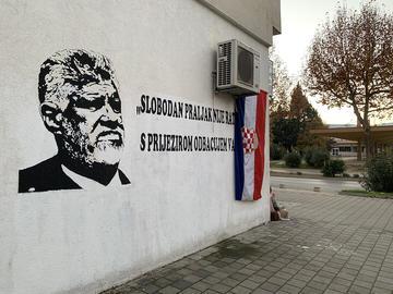 Čapljina, graffito su Slobodan Praljak (foto Elvira Jukić - Mujkić)
