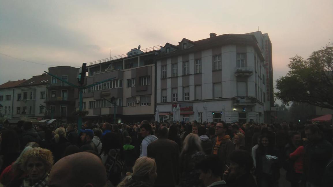 Bihać, proteste di piazza ottobre 2018 - foto Greta Mangiagalli archivio Ipsia