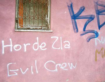 Scritte sui muri degli ultras dell'FK Sarajevo (Foto blandm, Flickr)