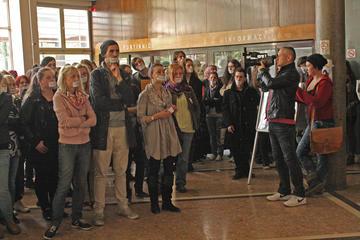 Lunedì 23 aprile, ore 11.30, Facoltà di Filosofia (Foto Michele Biava)