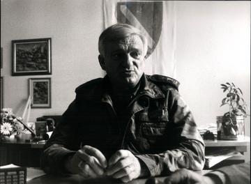 Il generale Jovan Divjak (Foto Danilo Krstanović)
