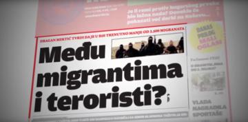 """""""Terroristi tra i migranti?"""" - Immagne tratta dal documentario """"Patka"""" prodotto dal Media Centar di Sarajevo"""