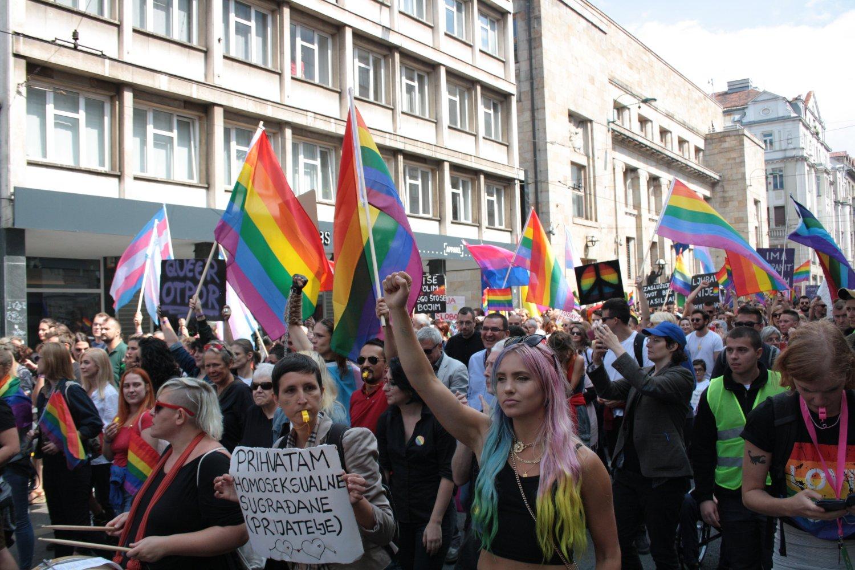 Il Pride a Sarajevo, foto di Alfredo Sasso