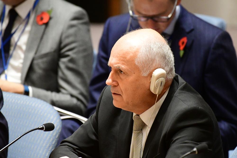 Valentin Inzko durante una seduta del Consiglio di sicurezza dell'ONU - foto © a katz/Shutterstock