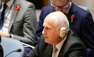 Valentin Inzko during a session of the UN Security Council - photo © a katz/Shutterstock