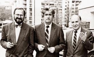 Stjepan Kljujić, Radovan Karadžić, and Alija Izetbegović