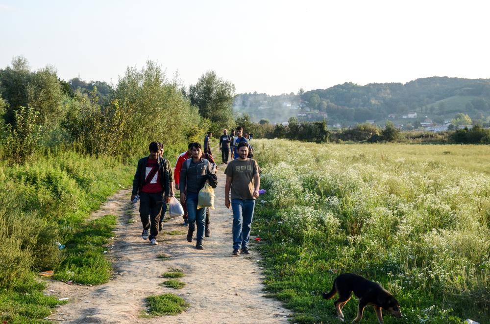 Velika Kladusa, migranti, settembre 2018 (© Ajdin Kamber/Shutterstock)