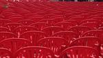 Sarajevo, 6 aprile 2012: 11.541 sedie rosse ricordano le vittime dell'assedio (Foto Andrea Rossini)