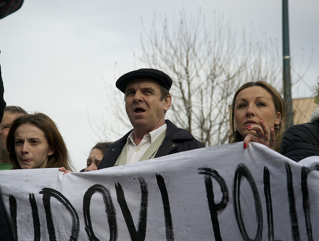 Sarajevo, le proteste (Foto Stefano Giantin)