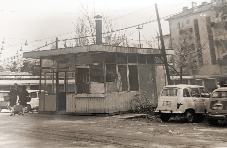 Il chiosco di ćevapi aperto da Giovanni Clazzer nel 1970 e chiuso nel 1974, quando andò in pensione
