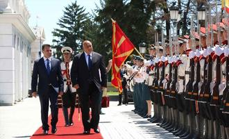 Zoran Zaev and Boyko Borisov in Skopje