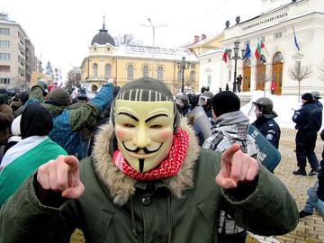 Proteste anti-ACTA a Sofia, Bulgaria
