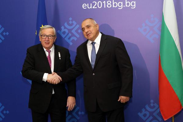 Bulgarian PM Boyko Borissov and Jean-Claude Juncker in Sofia