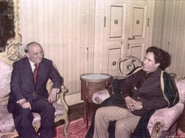 Todor Zhivkov con Muammar Gheddafi
