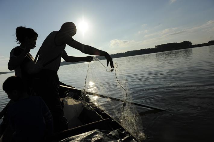 Fishermen on the Danube (Photo F. Martino)