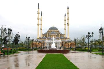 """Akhmed Kadyrov"" mosque, Grozny, on a rainy day"