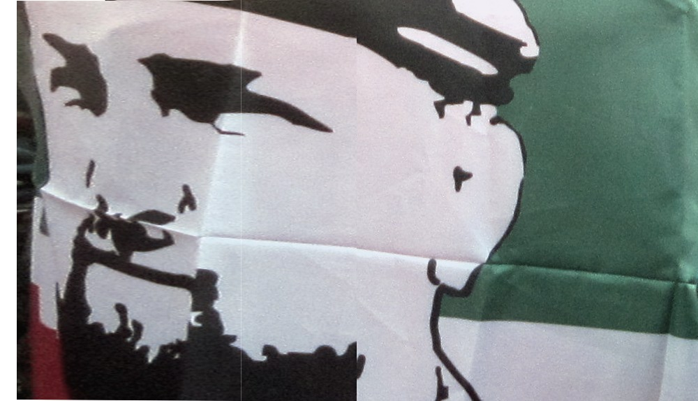 Bandiera con Kadyrov