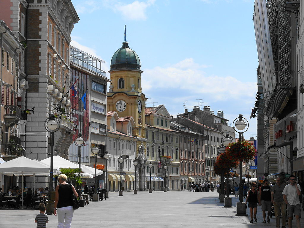 The old town in Rijeka (wikimedia)