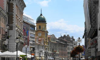 Il centro di Fiume (wikimedia)