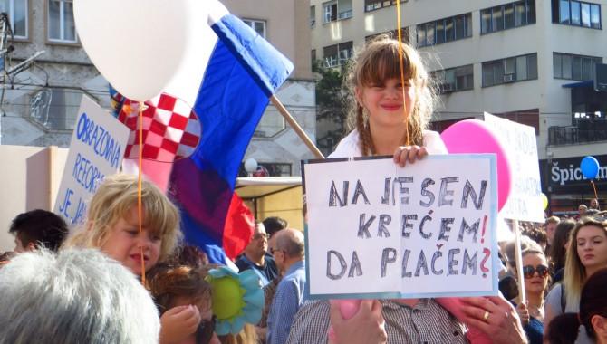 Manifestazione del 1 giugno a Zagabria (foto M. K. H-Alter)