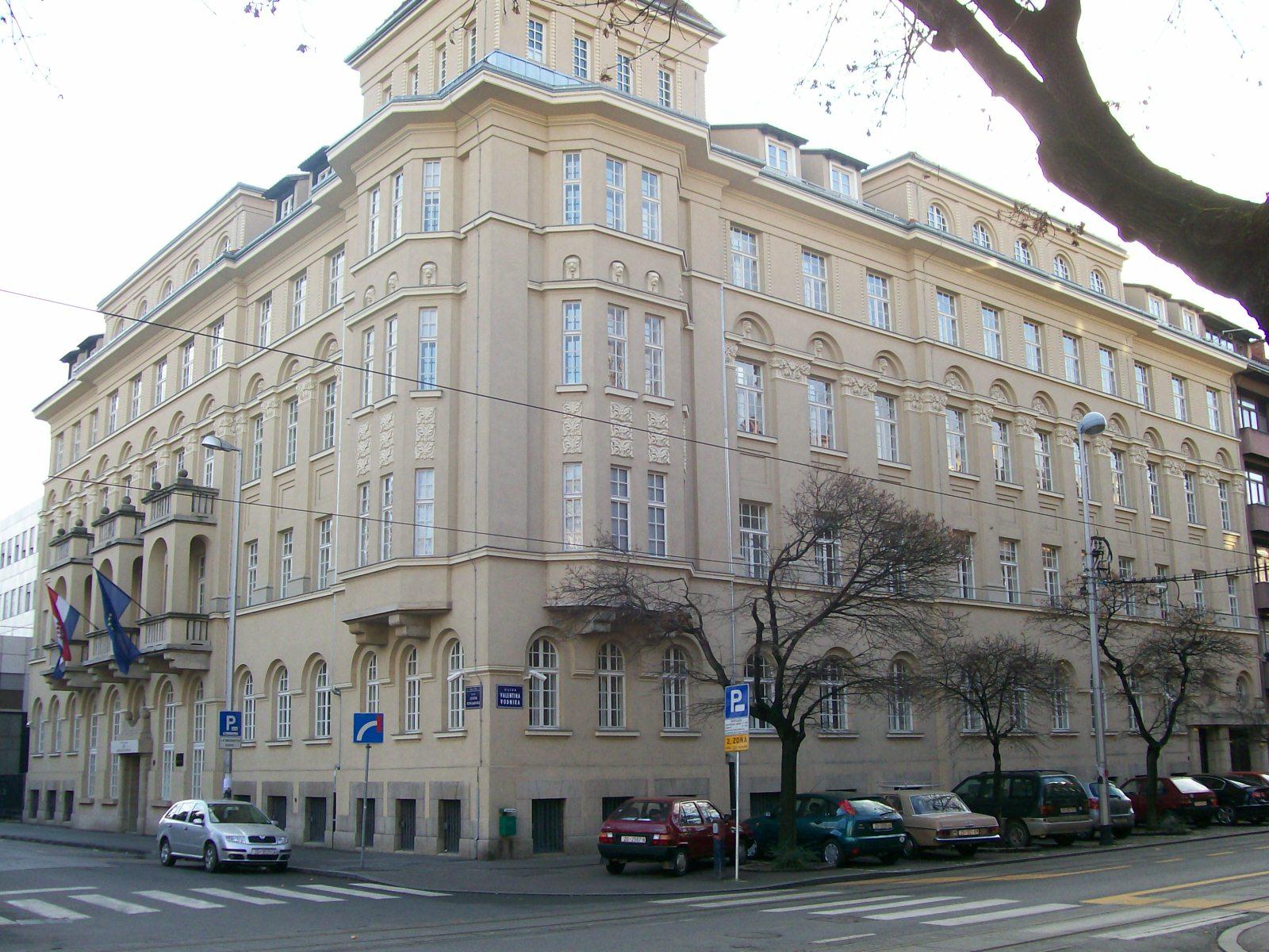 La sede del Ministero della Cultura a Zagabria (Foto: Suradnik13)