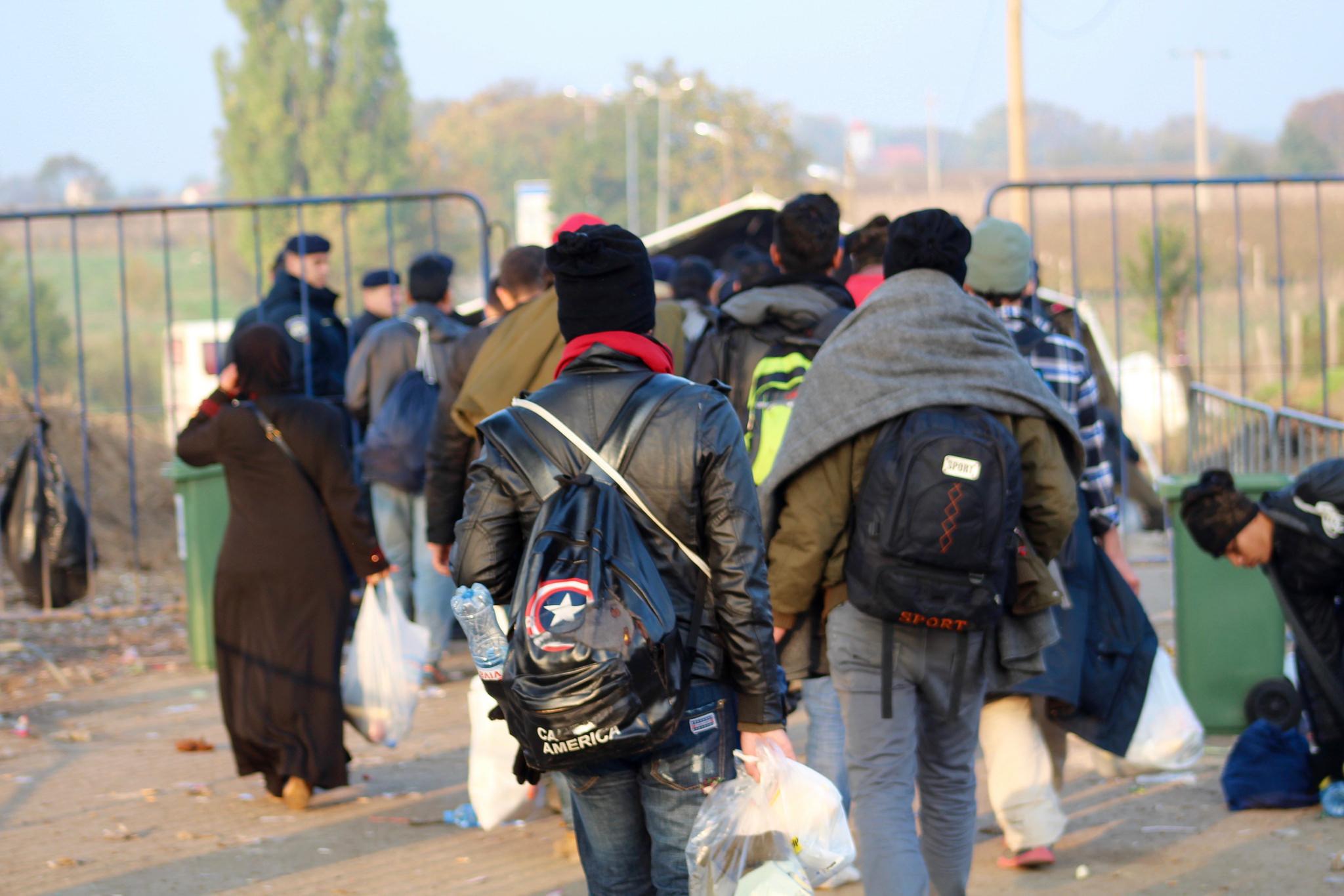 Profughi al confine tra Serbia e Croazia (foto Trocaire)