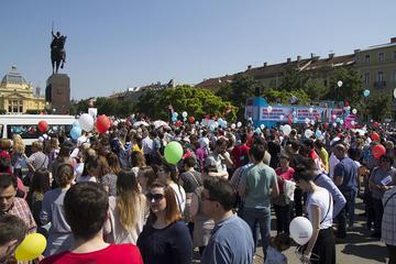 """Zagabria, """"Marcia per la vita"""" (foto G. Vale)"""