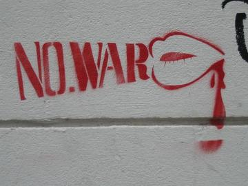 No war, murales a Londra