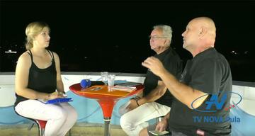 Petar Fehir e Saša Leković intervistato da Tv Nova