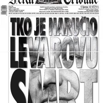 """Feral Tribune - 2 settembre 2000 """"Chi ha ordinato l'omicidio di Levar"""""""