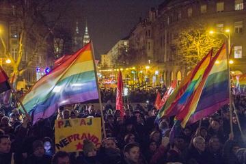 Manifestazione LGBT a Zagabria (foto G. Vale)