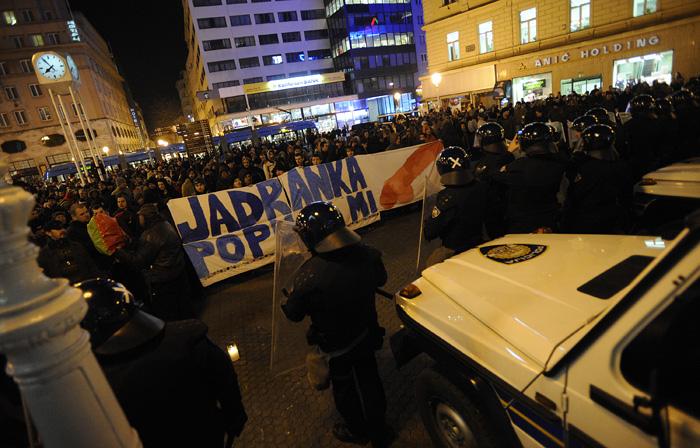 Proteste in Croazia contro il governo Kosor
